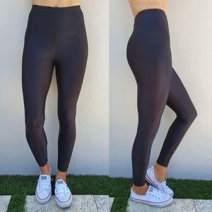 American Apparel Nylon Black High Waist Legging